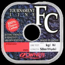 OWNER Леска Tournament FC 50м 0,2мм 2,8кг
