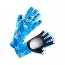 VEDUTA Перчатки солнцезащитные UV Gloves Reptile Skin Blue Water M мужские