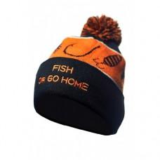VEDUTA Шапка зимняя Pompom Hat Fish Or Go Home