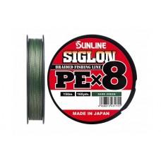 Шнур Sunline SIGLON PEx8 Dark Green 150m #1.2/20lb