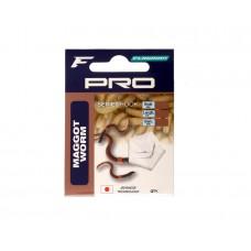 FLAGMAN Готовый поводок Pro Maggot Worm Hooks №14 7шт