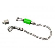 CARP PRO Механический индикатор поклевки на цепочке Hanger микро нерж сталь green