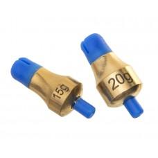 FLAGMAN Глубиномер Push-Button Plummets Set L 15г и 20г латунь 2шт
