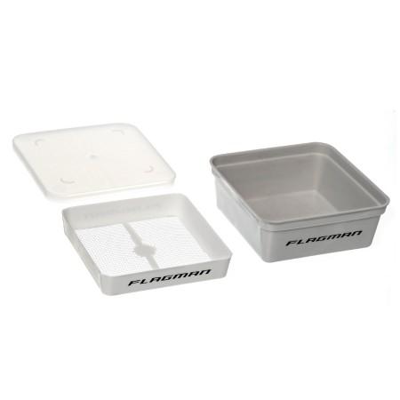 Коробка для наживки+сито+крышка 13,5х13,5х5,5см Grey Box+Cover+Riddle