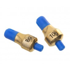 FLAGMAN Глубиномер Push-Button Plummets Set M 8г и 10г латунь 2шт