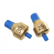FLAGMAN Глубиномер Push-Button Plummets Set XL 25г и 30г латунь 2шт