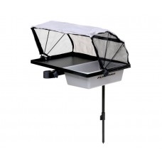 FLAGMAN Стол с тентом пласт. емкостью и крепл. на платформу 500x360мм  + теле. нога d19, 25,30,36мм