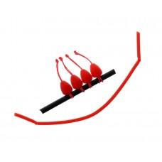 FLAGMAN Коннектор для штекера Dacron Connector красный XL 7х9мм