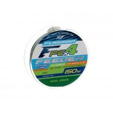 FLAGMAN Шнур PE Hybrid F4 Feeder 150м Moss Green 0,10мм 4,6кг