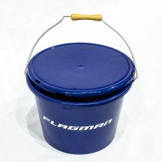 FLAGMAN Ведро с крышкой 13л синее