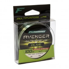 Леска Flagman Avenger Olive Line 100м 0,28мм