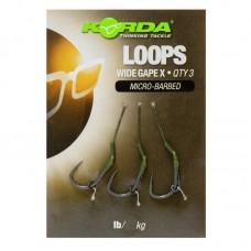Поводок готовый Korda Loop Rigs DF Wide Gape X №8 18lb