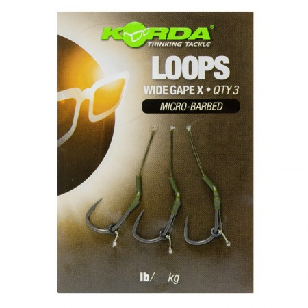Поводок готовый Korda Loop Rigs DF Wide Gape X №6 18lb