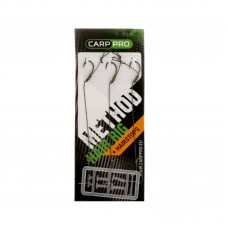Поводки с крючком Carp Pro Method Hair Rig Hooklink 25 lb №6