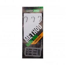 Готовый поводок с крючком Carp Pro Method Hair Rig Line 0,18мм №12