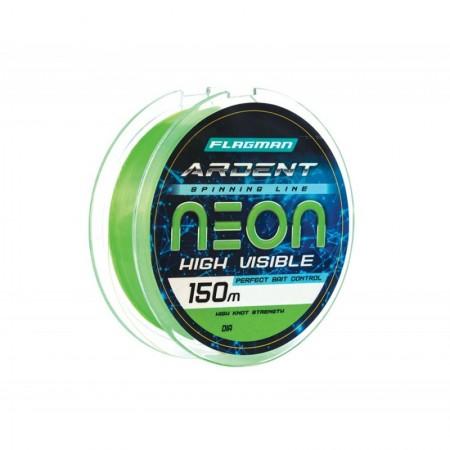 Леска Flagman Ardent Neon 150 м, 0.22 мм