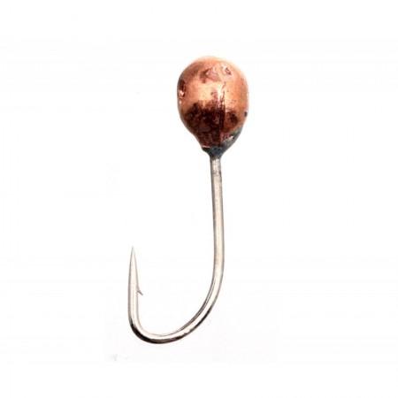 Мормышка вольфрамовая Flagman Шар с отверстием спорт d=2.5 медь