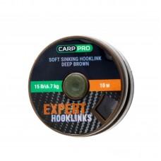 Поводковый материал без оболочки Carp Pro коричневый 15lb 10м