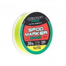 Шнур Carp Pro Spod and Marker Braid желтый d0,16мм 200м