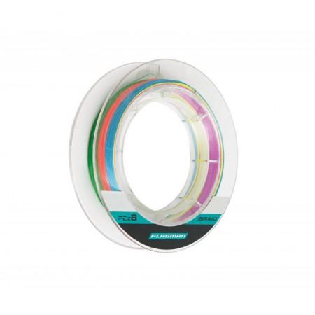 Шнур Flagman Braid PE Multicolor X8 150 м 0.148 мм