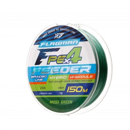Шнур Flagman PE Hybrid F4 Feeder 150m Moss Green 0,16mm. Max8,5kg