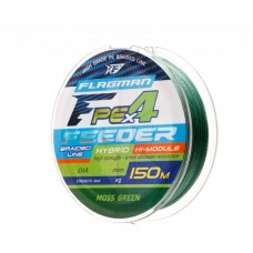 FLAGMAN Шнур PE Hybrid F4 Feeder 150м Moss Green 0,19мм 10,5кг