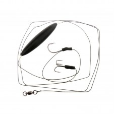 FLAGMAN Сомовая оснастка готовая Cat Fish Rig Two Single Hook & Float 8/0