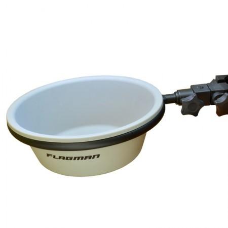 Таз для прикормки с креплением на платформу Flagman D25, крепление универсальное 19/25/30/36мм