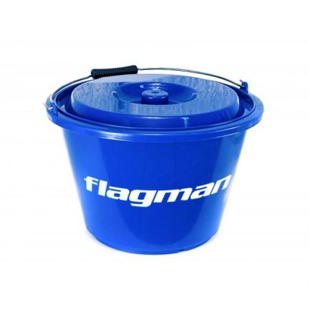 Ведро для прикормки с крышкой Flagman 18л